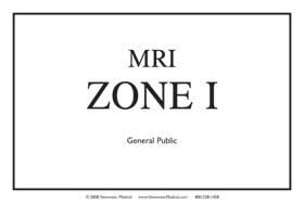 MRI Zone Signs